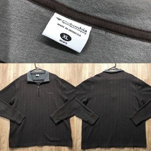 Columbia pull over sweater 1/4 zip Mens Size XL